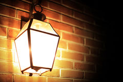 Romantic night streetlight. Romantic night street light in the city Royalty Free Stock Photos