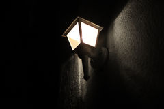 Romantic night streetlight. Romantic night street light in the city Stock Photography