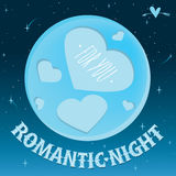 Romantic night under the moon Royalty Free Stock Photography