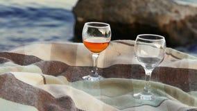 Romantic night , wine on the wild Coast stock footage