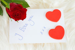 Romantic note Royalty Free Stock Photos