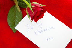 Romantic note Royalty Free Stock Images