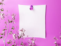 Romantic note on the wall Royalty Free Stock Images
