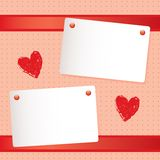 Romantic notepaper Royalty Free Stock Images