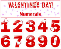 Romantic numbers with a heart. Stock Photo