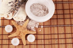 Romantic objects for spa Stock Images