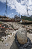 Romantic old fishing boats Royalty Free Stock Image