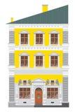 Romantic old house. Romantic european old yellow house. Vector illustration Vector Illustration