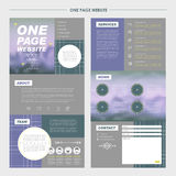 Romantic one page website template design Stock Photo