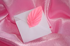 Romantic origami envelope - Stock Photo Royalty Free Stock Photo