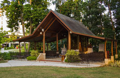 Romantic outdoor wedding pavilion Stock Photography