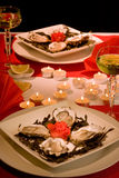 Romantic oysters Royalty Free Stock Photo