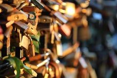 Romantic padlocks Royalty Free Stock Image