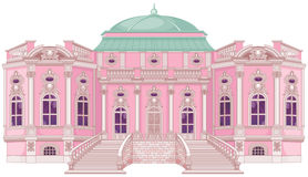 Romantic Palace for a Princess vector illustration