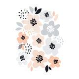 Romantic pale color floral design element Stock Photo