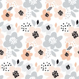 Romantic pale color floral seamless pattern Stock Photography