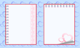 Romantic paper notebooks Royalty Free Stock Photos