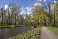 Romantic Park in Arkadia in Poland Royalty Free Stock Images