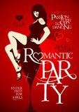 Romantic party design Stock Image