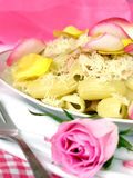 Romantic pasta Stock Image