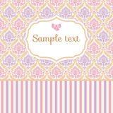 Romantic pastel card Royalty Free Stock Photos