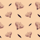 Romantic pastel flowers decorative seamless pattern background illustration Royalty Free Stock Photo