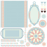Romantic pastel tags, background and more Royalty Free Stock Photos