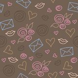 Romantic pattern Stock Images