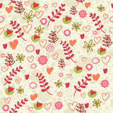 Romantic pattern Stock Photo