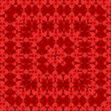 Romantic pattern for cover or card print with red hearts. Colorful doodle hearts on red background. Ready template for design,