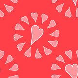 Romantic pattern. With hand drawn hearts Royalty Free Stock Photos