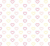 Romantic pattern with hearts. Vector illustration. Stock Photo