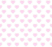 Romantic pattern with hearts. Vector illustration. Stock Image