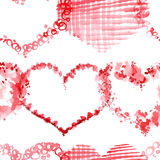 Romantic pattern with hearts Royalty Free Stock Photo