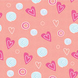 Romantic pattern with love Stock Photo