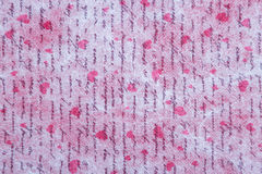 Romantic pattern for Valentines day. With red hearts and handwritten text. Background Stock Images