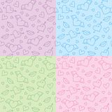 Romantic patterns Royalty Free Stock Photography