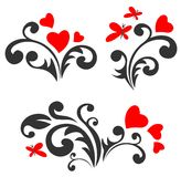 Romantic patterns set Royalty Free Stock Images