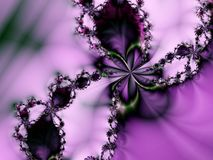 Romantic Pearl Purple Flower Star stock illustration