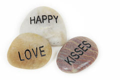 Romantic pebbles Stock Images