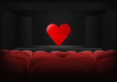 Romantic performance on the stage in theater interior vector Stock Photo