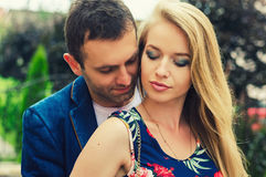 Romantic photo of a  couple. Romantic photo of a hugging couple Royalty Free Stock Photos