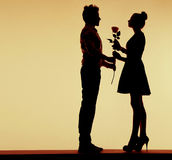 Romantic photo of couple in love Royalty Free Stock Images