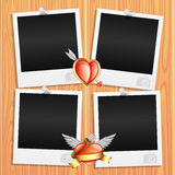 Romantic photo frames. Royalty Free Stock Images