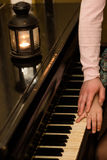 Romantic piano Royalty Free Stock Photos
