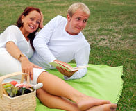 Romantic picnic Stock Photos