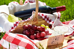 Romantic picnic basket Stock Photography