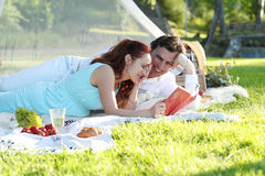 Romantic picnic. Love. Romantic picnic in the park Stock Photography