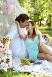 Romantic picnic. Love. Romantic picnic in the park Stock Images