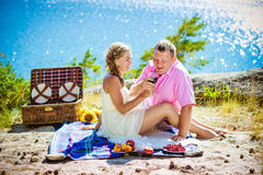 Romantic picnic Royalty Free Stock Photos